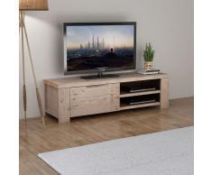 vidaXL Mobile Porta TV in Legno Massello Acacia Spazzolato 140x38x40cm