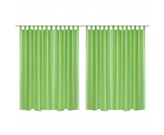 Set 2 pz Tenda pura 290 x 225 cm verde