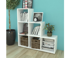 vidaXL Libreria a scala / Mensole 107 cm Bianca