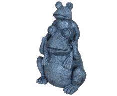 Velda Doppia Statua per Stagno a Forma di Rana Grigio