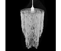 vidaXL Lampadario da Soffitto con Paralume Cristallo 26,5 x 50 cm