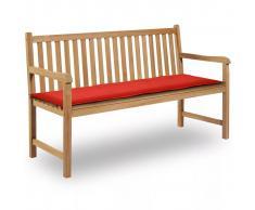 vidaXL Cuscino per Panca da Giardino Rosso 150x50x3 cm
