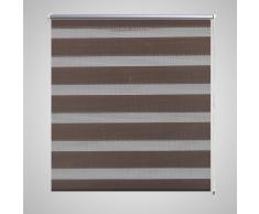 Tenda a rullo oscurante zebra 140x175cm caffé