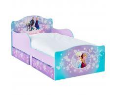 Disney Letto per Bambini con 2 Cassetti Frozen 140x70 cm WORL234023