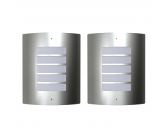 vidaXL Appliquè moderni in acciaio inox per esterni ed interni, 2