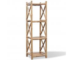 vidaXL Scaffale a 4 piani in legno di bambù
