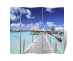 vidaXL Parete divisoria privacy divisorio 200 x 180 spiaggia