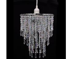 vidaXL Lampadario di cristallo pendente 22,5 x 30,5 cm