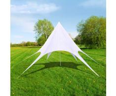 vidaXL Gazebo padiglione tenda da giardino a stella esagonale 10m