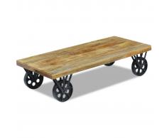 vidaXL Tavolino da Caffè in Legno di Mango 120x60x30 cm