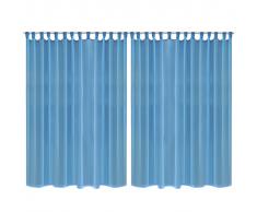 Set 2 pz Tenda a picco 290 x 225 cm turchese
