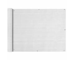 vidaXL Paravento da Balcone HDPE 90x400 cm Bianco