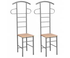 vidaXL Appendiabiti moderni, sedie appendiabiti servomuto legno