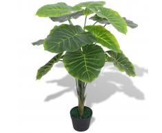 vidaXL Taro Pianta Artificiale con Vaso 70 cm Verde