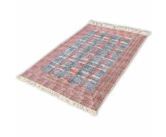 vidaXL Tappeto di Cotone 180x270 cm Rosso