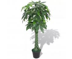 vidaXL Pachira Acquatica Pianta Artificiale con Vaso 145 cm Verde