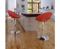 2 x Sgabello-poltroncina cucina o bar rosso