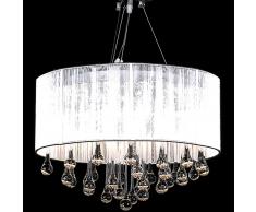 vidaXL Lampadario moderno vetro con paralume, lampada a sospensione