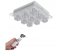 vidaXL Lampada RGB LED da soffitto Colori interscambiabili 9 lampadine