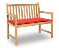 vidaXL Cuscino per Panca da Giardino Rosso 100x50x3 cm