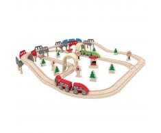 Hape Set Pista treno ferrovia High & Low E3701