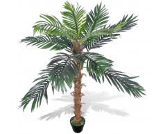 vidaXL Palma da Cocco Pianta Artificiale con Vaso 140 cm