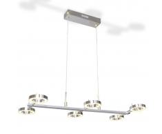 vidaXL Lampadario LED con 6 luci circolari
