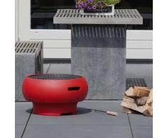 BBGRILL Barbecue Portatile Rosso BBQ TUB-R