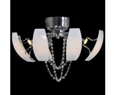 vidaXL Lampadario con candelabri in cristallo a LED 52 cm Diametro