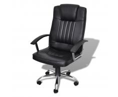 vidaXL Sedia Ufficio in Pelle Design Esclusivo 65 x 66 107 -117 cm Nero