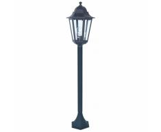 SMARTWARES Lampione da Giardino 60 W Nero 125 cm CLAS5000.037