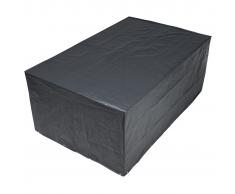 Nature Copertura per mobili da giardino 90x325x205 cm PE grigio scuro