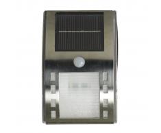 Luxform Lampada da parete solare a LED Augusta Argento e Bianca 38195
