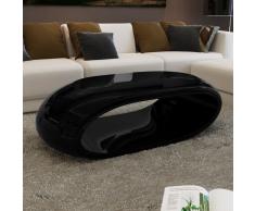 vidaXL Tavolino incavato nero