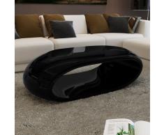 Tavolino incavato nero