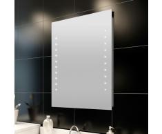 vidaXL Specchio da bagno 50 x 60 cm( L H) con luci led