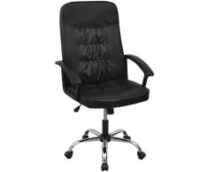 vidaXL Sedia da ufficio in pelle artificiale 67 x 70 cm nera