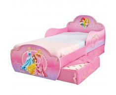 Disney Lettino per Bambini con Cassetti Princess 142x59x77 cm Deluxe WORL660016