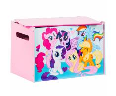 My Little Pony Scatola Giocattoli in Legno 60x40x40 cm Rosa WORL920001