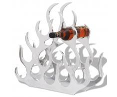 vidaXL Portabottiglie da Tavola in Alluminio per 11 Bottiglie Argento