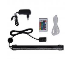 vidaXL Luce LED Acquario con Bolle RGB 32 cm