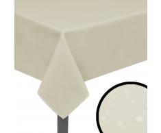 vidaXL Tovaglia 5 pz 190x130 cm Crema