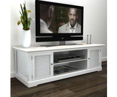 vidaXL Mobile TV in Legno Bianco