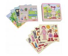 HABA Set di Giochi Magnetici Bambola da Vestire Lilli 007392
