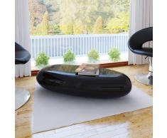vidaXL Tavolino in fibra di vetro nero