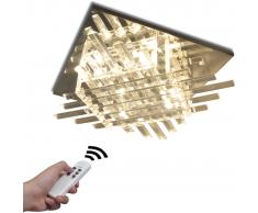 vidaXL Lampada da Soffitto RGB a LED Quadrata con Strisce di Vetro