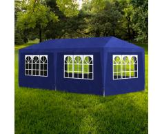 vidaXL Gazebo da Esterno Tenda per Feste 3 x 6 Pannelli Blu