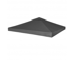 vidaXL Copertura Impermeabile Ricambio Gazebo 270 g / m² Grigio Scuro 3 x m