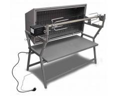 vidaXL Barbecue Girarrosto in Ferro ed Acciaio Inossidabile