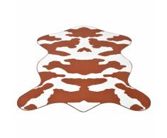 vidaXL Tappeto Sagomato 70x110 cm Stampa a Mucca Marrone